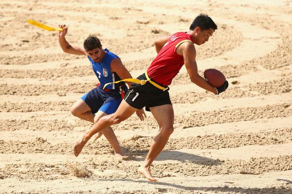 beach rugby flag